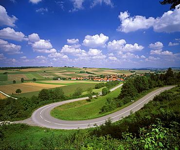 Huernheim, Noeoerdlinger Ries, Swabia, Bavaria, Germany, Europe