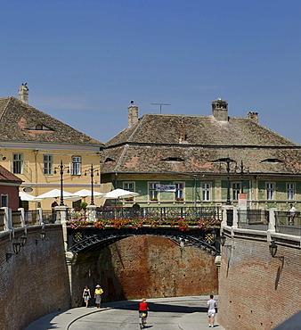 Liars' Bridge at Piata Mica Square, Sibiu, Romania, Europe