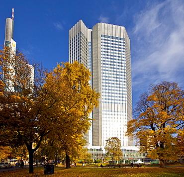 ECB, European Central Bank, autumn, Frankfurt am Main, Hesse, Germany, Europe
