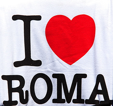 I love Rome, message on a T-shirt, Rome, Italy, Europe