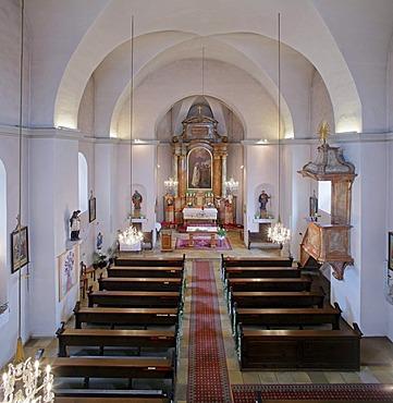 Church interior, Voesendorf, Lower Austria, Austria, Europe
