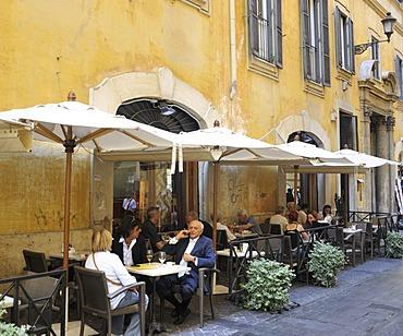 Trattoria on the Campus Martius, near the Pantheon, Rome, Lazio, Italy, Europe