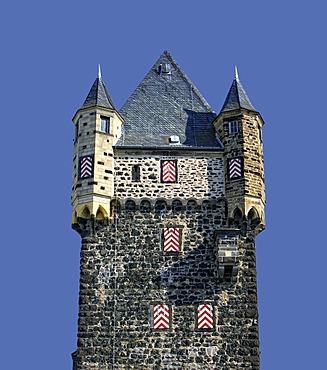 Town fortifications and Obertor Gate, Mayen, Rhineland-Palatinate, Germany, Europe