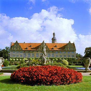 Schloss Weikersheim castle, Weikersheim on the Tauber river, Baden-Wuerttemberg, Germany, Europe