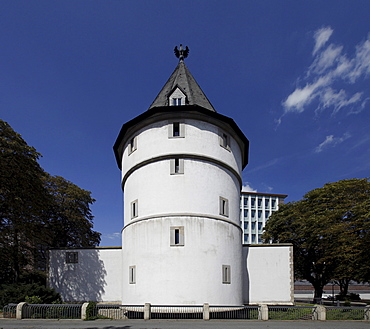 Reconstruction of the historic Adlerturm Tower, Museum of the town history, Dortmund, North Rhine-Westphalia, Germany, Europe