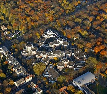 Aerial picture, Duisburg/Essen University, campus, Duisburg, Ruhr area, North Rhine-Westphalia, Germany, Europe