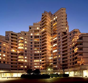 Residential tower, Gelsenkirchen, Ruhr Area, North-Rhine Westphalia, Germany, Europe