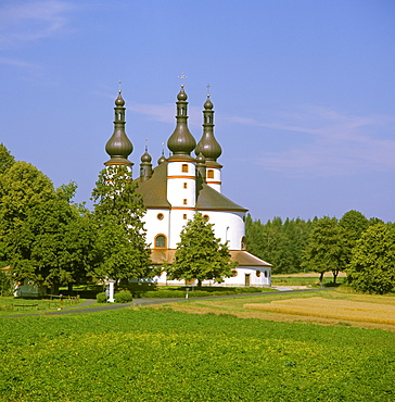 Kappel town of Waldsassen Upper Palatinate Bavaria Germany pilgrimage church Holy Spirit built by Georg Dientzenhofer 1682 to 1689