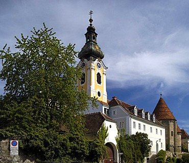 Church and surrounding buildings in Hartberg Styria Austria