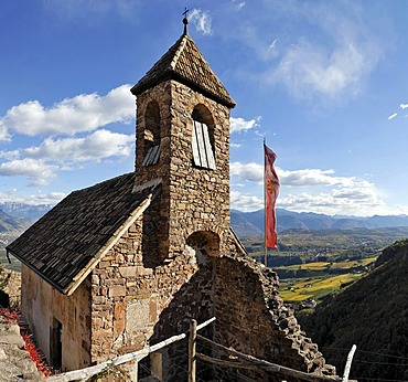 The castle chapel dating back to the 12th century, castle Hocheppan, South Tyrol, Italy
