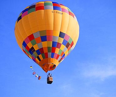Hot-air balloon, near Schwaebisch Hall, Germany