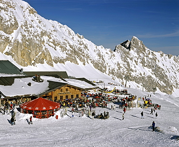 Sonn Alpin, Zugspitze, Germany's highest mountain, Wetterstein Range, Werdenfels Region, Upper Bavaria, Bavaria, Germany, Europe