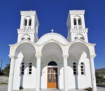 Greek orthodox church on Naxos, Cyclades, Greece, Europe