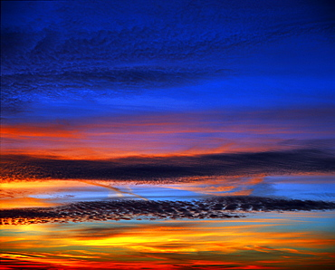 Sunset, dramatic colours