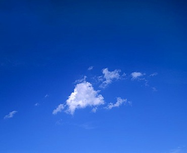 Small cloud in front of a blue sky