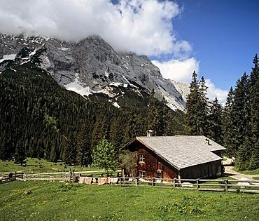 Tillfussalm in the Gaistal between Mieminger Kette and Wettersteingebirge, Tyrol, Austria
