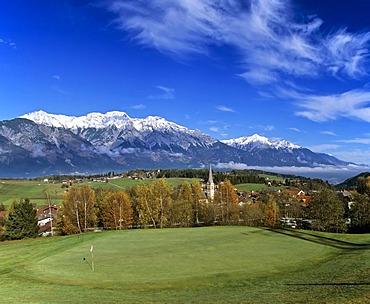 Golf course, Aldrans, Karwendel, Inntal, Tyrol, Austria