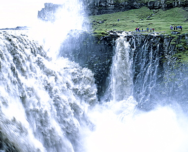 Dettifoss Waterfall, Joekulsa a Fjoellum river, Iceland