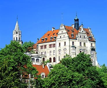 Schloss Sigmaringen (Sigmaringen Castle), Hohenzollern Dynasty, Baden-Wuerttemberg, Germany, Europe