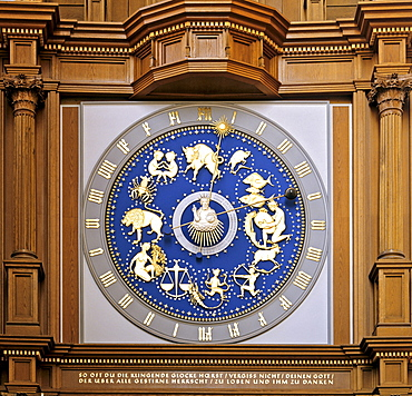 Astronomical clock, Marienkirche Church, Luebeck, Schleswig-Holstein, Germany, Europe