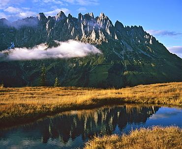 Mountain lake, Hochkoenig Massif, Berchtesgadener Alps, Salzburger Land, Austria, Europe