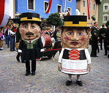 Dwarf costumes during carnival, Tamsweg, Lungau, Salzburger Land, Austria, Europe