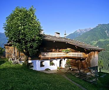 Bichlhof farm near St. Johann, mountain farm, Ahrntal, Valle Aurina, Province of Bolzano-Bozen, Italy