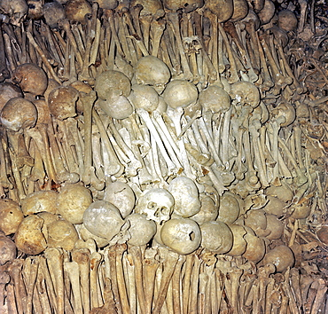 Ossuary or charnel house, St. Michael's Church, Schwaebisch Hall, Baden-Wuerttemberg, Germany