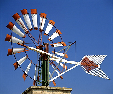 Windmill at Palma de Mallorca Airport, Majorca, Balearic Islands, Spain