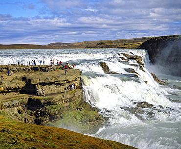 Gullfoss Waterfall, Hvita River, Haukadalur, Iceland