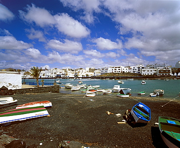 Charco San Gines, old fishing port, Arrecife, Lanzarote, Canary Islands, Atlantic Ocean, Spain, Europe