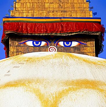The all seeing eyes of Buddha, Kathmandu, Nepal