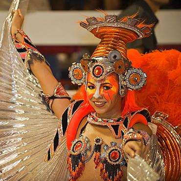 Dancer at the Gualeguaychu Carnival, Entre Rios Province, Argentina, Latin America
