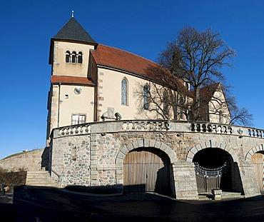 Parish Church of St. Peter in Petersberg near Fulda, Rhoen, Hesse, Germany, Europe