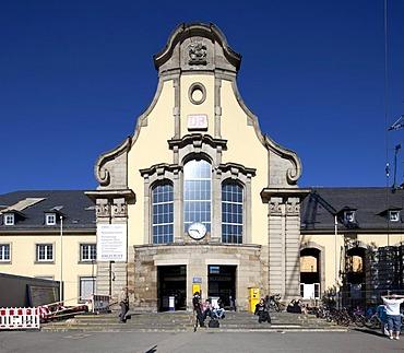 Railway station building, Marburg, Hesse, Germany, Europe, PublicGround