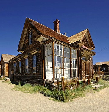 Residence of James Stuart Cain, a wealthy citizen from the ghost town of Bodie, a former gold mining town, Bodie State Historic Park, California, United States of America, USA