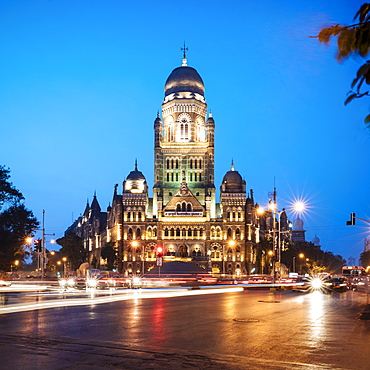 Exterior of Mumbai Municipal corporation building, Mumbai (Bombay), India, South Asia