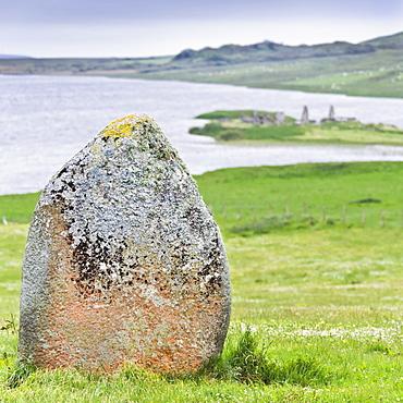 Finlaggan rock, Islay Island, Inner Hebrides, Scotland, United Kingdom, Europe