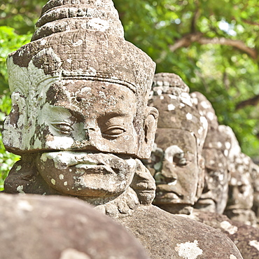 South Gate to Angkor Thom, Angkor, UNESCO World Heritage Site, Siem Reap, Cambodia, Indochina, Southeast Asia, Asia