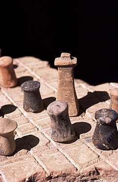 Board game, Harappa Museum, Pakistan, Asia