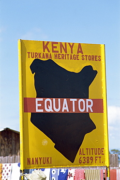 Equator sign, Kenya, East Africa, Africa