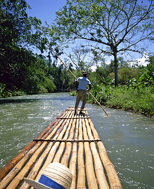 Rafting on the Martha Brae River, Jamaica, West Indies, Caribbean, Central America