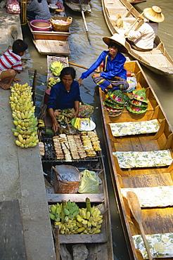 Floating market, Damnoen Saduak, Bangkok, Thailand, Southeast Asia, Asia