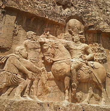 Triumph of Shapur I, Sassanid ruler, Naqsh-e Rustam, Iran, Middle East