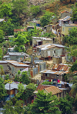 Shanty town, Montego Bay, Jamaica, Caribbean, West Indies