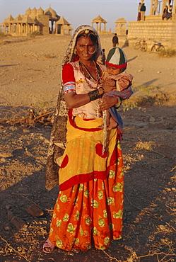 Woman and baby, Jaisalmer, Rajasthan, India