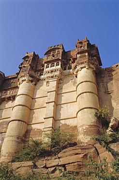 The Meherangarh Fort built in 1459, Jodhpur, Rajasthan, India