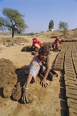 Brick making, Deogarh, Rajasthan, India