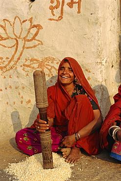 Village life, near Deogarh, Rajasthan, India