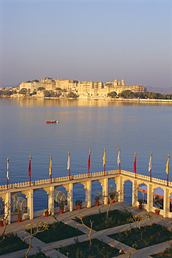 City Palace from the Jag Mandir, Udaipur, Rajasthan, India